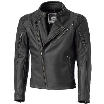Held Harper Retro Styled Leather Motorcycle Motorbike Jacket D3O Armour - Black